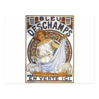 アルフォンス島のミュシャによるブルーDeschamps ポストカード
