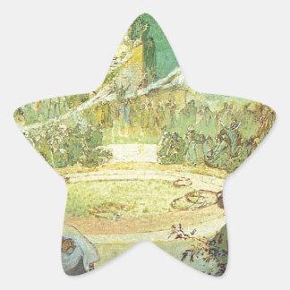 アルフォンス島のミュシャによる愛の年齢 星形シール・ステッカー
