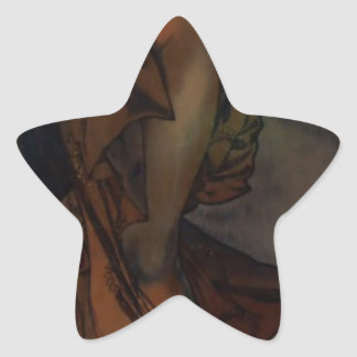アルフォンス島のミュシャによる明けの明星 星シール