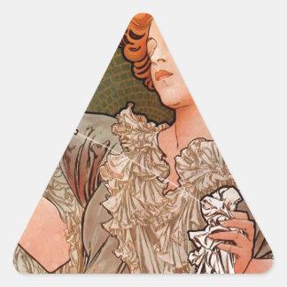 アルフォンス島のミュシャによる槍のparfum Rodo 三角形シール