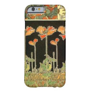アルフォンス島のミュシャによる芸術のdécoratifs (オレンジ花) barely there iPhone 6 ケース