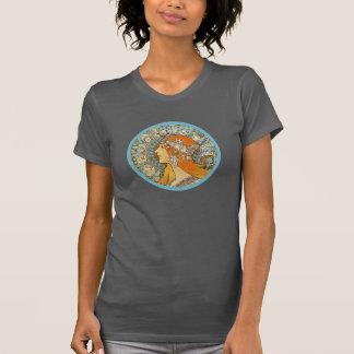 アルフォンス島のミュシャによる(占星術の)十二宮図 Tシャツ