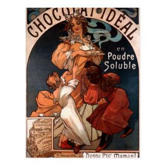 アルフォンス島のミュシャによるChocolatの理想 ポストカード