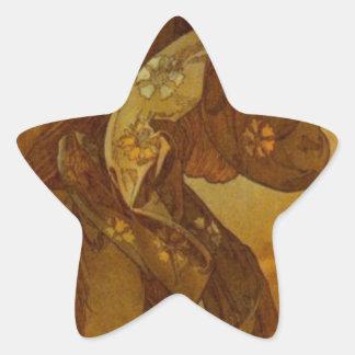 アルフォンス島のミュシャによるEvestar 星シール
