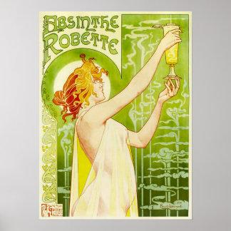 アルフォンス島のミュシャのアブサンのRobetteポスター ポスター
