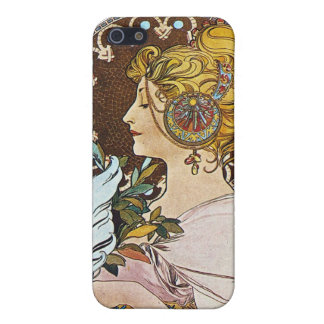 アルフォンス島のミュシャのアートワーク iPhone SE/5/5sケース