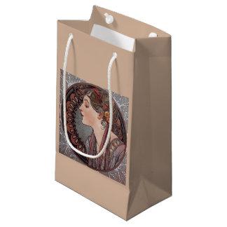 アルフォンス島のミュシャのアールヌーボーの女性の月桂樹のギフトバッグ スモールペーパーバッグ