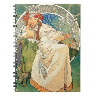 アルフォンス島のミュシャのプリンセスのHyacinthのノート ノートブック