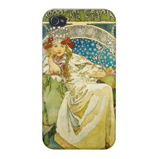 アルフォンス島のミュシャのプリンセスのHyacinthアールヌーボー iPhone 4/4S Case