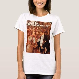 アルフォンス島のミュシャの浮気者のTシャツ Tシャツ