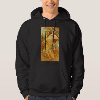 アルフォンス島のミュシャの秋のフード付きスウェットシャツ パーカ