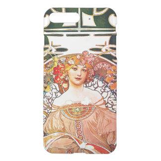 アルフォンス島のミュシャの空想の花のヴィンテージアールヌーボー iPhone 8 PLUS/7 PLUS ケース