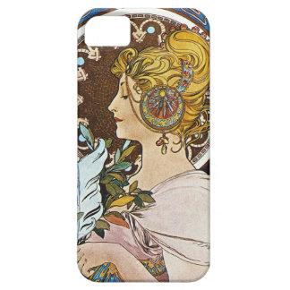 アルフォンス島のミュシャのLaの羽毛のクイルペンのiPhone 5の場合 iPhone SE/5/5s ケース