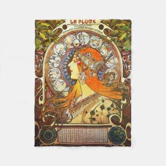 アルフォンス島のミュシャのLaの羽毛の(占星術の)十二宮図のアールヌーボーのヴィンテージ フリースブランケット