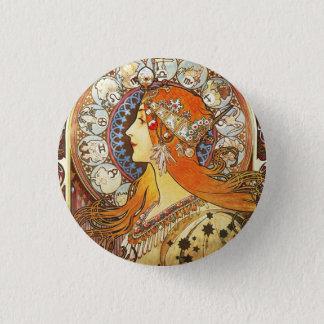 アルフォンス島のミュシャのLaの羽毛の(占星術の)十二宮図のアールヌーボーのヴィンテージ 缶バッジ
