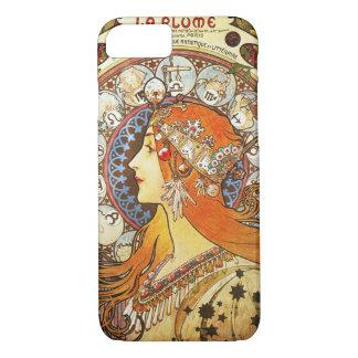アルフォンス島のミュシャのLaの羽毛の(占星術の)十二宮図のアールヌーボーのヴィンテージ iPhone 8/7ケース
