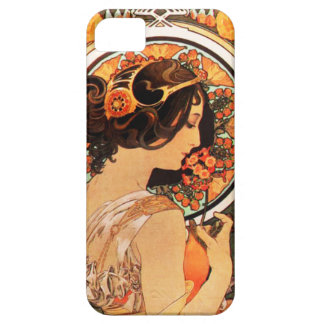 アルフォンス島のミュシャ牛スリップのiPhone 5の場合 iPhone SE/5/5s ケース
