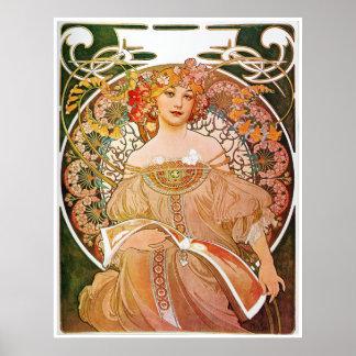 アルフォンス島のミュシャ、幻想または空想、1896. ポスター