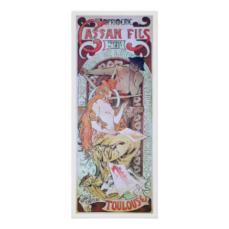 アルフォンス島のミュシャ。 Imprimerie Cassan Fils 1897年 ポスター