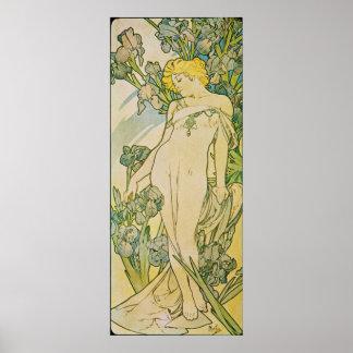 アルフォンス島のミュシャ。 L 「アイリス1897年 ポスター