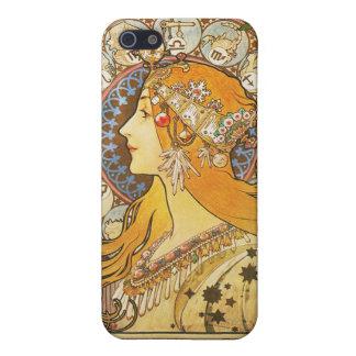 アルフォンス島のミュシャ。 Laの羽毛。 1896. iPhone 5 Case