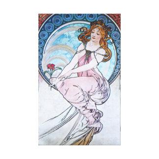 アルフォンス島のミュシャ。 La Peintureか絵画1898年 キャンバスプリント