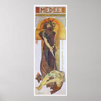アルフォンス島のミュシャ。 Medee 1898年 ポスター