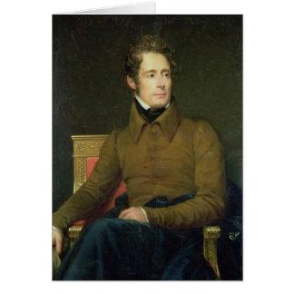 アルフォンス・ド・ラマルティーヌ1831年のポートレート カード