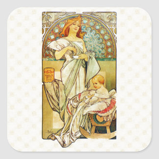 アルフォンス・ミュシャの乳児のための1898年の食糧 スクエアシール