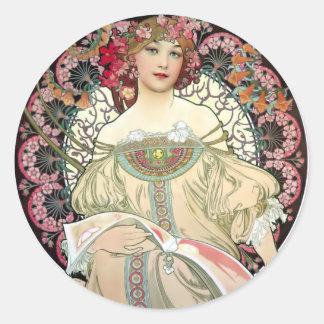 アルフォンス・ミュシャの幻想1897年 ラウンドシール