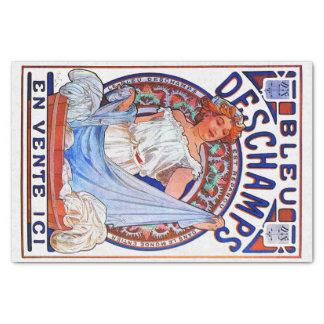 アルフォンス・ミュシャの1897年のブルーDeschamps 薄葉紙