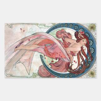 アルフォンス・ミュシャ1898のダンス 長方形シール