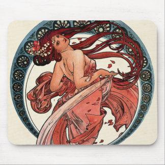 アルフォンス・ミュシャ1898年著ダンス マウスパッド