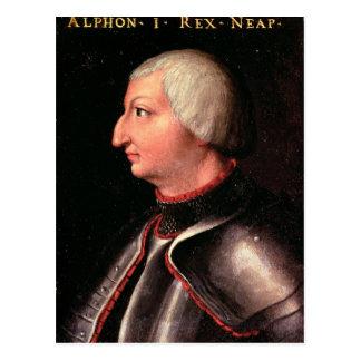 アルフォンソV 「寛大の」、アラゴンの王 ポストカード