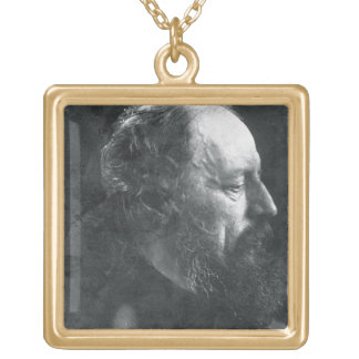 アルフレッドのTennyson (1809-92年の) c.1868 (卵白pr主 ゴールドプレートネックレス