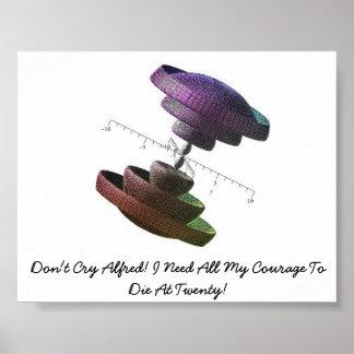 アルフレッドは叫びません! 私は私の勇気をすべて必要とします。 ポスター