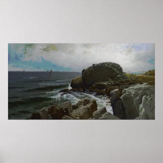 アルフレッドトムソンBricher - Castle Rock、Marblehead ポスター