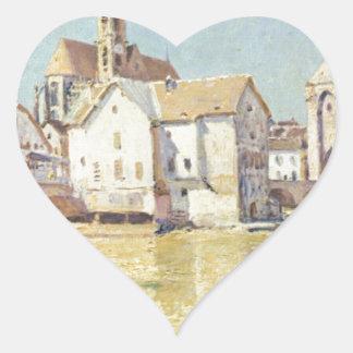 アルフレッド著Pont de Moretのdansのle soleil duのmatin ハートシール