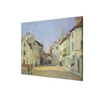 アルフレッド・シスレーアルジャントゥーユの| Rue de la Chaussee キャンバスプリント