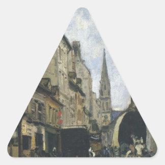 アルフレッド・シスレー著アルジャントゥーユのメイン・ストリート 三角形シール