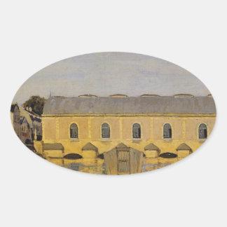 アルフレッド・シスレー著泥灰質の機械 楕円形シール