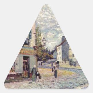 アルフレッド・シスレー著泥灰質の通り 三角形シール