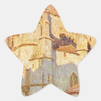 アルフレッド・シスレー著Moretの教会 星シール