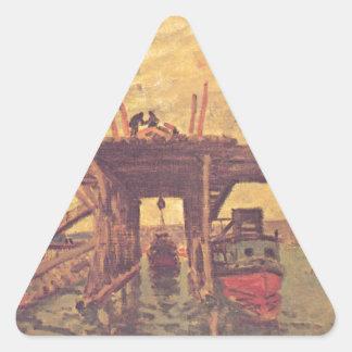 アルフレッド・シスレー著MoretのLoing 三角形シール