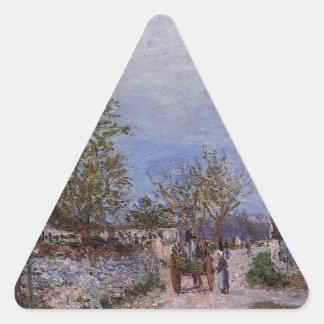 アルフレッド・シスレー著Veneuxの通り 三角形シール