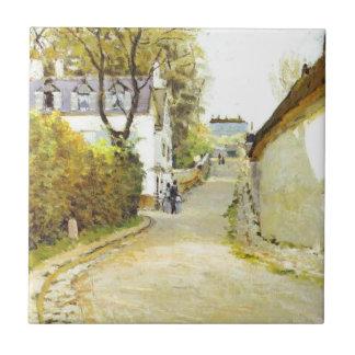 アルフレッド・シスレー著Ville d Avrayの通り タイル