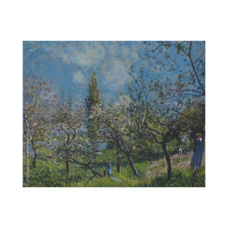 アルフレッド・シスレー-春の果樹園、 キャンバスプリント