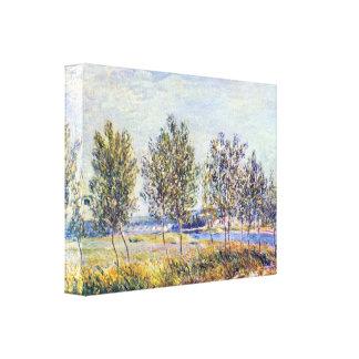 アルフレッド・シスレー-草原による… キャンバスプリント