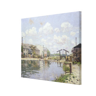 アルフレッド・シスレー|運河セントマーチン、パリ キャンバスプリント