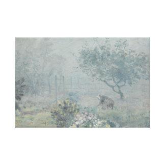 アルフレッド・シスレー-霧、Voisins キャンバスプリント